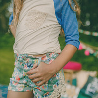 Cherished Floral Crochet Shorts