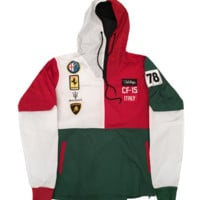 Club Foreign Italy Series Windbreaker In Green/White/Red