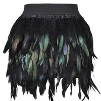 Feather Mini Skirt - Choies.com