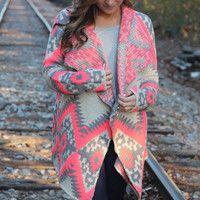 Caught up in Neon Lights Cardigan: Neon Pink - Off the Racks Boutique