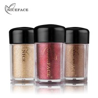 NICEFACE Glitter Eyeshadow Makeup Sparkling Powder Shimmer Eye Shadow Pigment Silky Loose Powder Nude Palette Beauty Cosmetics