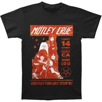 Motley Crue Men's  Whisky A Go-Go Vintage Slim Fit T-shirt Black