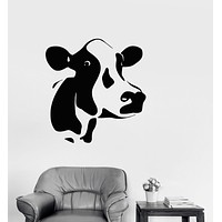 Vinyl Decal Cow Animal Dairy Farm Milk Wall Stickers Mural Unique Gift (i011)