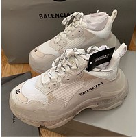 Hipgirls Balenciaga hot fashion retro transparent platform sneakers