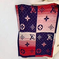 Bunchsun Louis vuitton fashion men and women casual printed patchwork color fringed shawl scarf