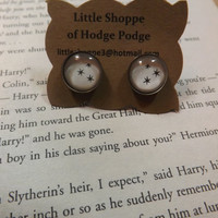 """Harry Potter """"Chapter Stars"""" post earrings made using Actual Book Pages"""