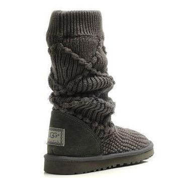 UGG Women Fashion Wool Winter Snow Boots High Boots Shoes-3