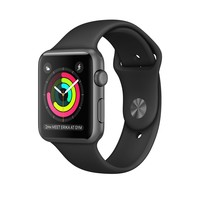 Apple Watch - Space Gray Aluminum Case with Black Sport Band