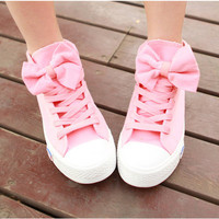 High Help Lovely Bowknot Canvas Shoes from Girl boutique