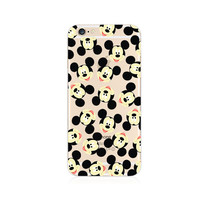 Mickey Mouse Pattern iPhone 6s 6 Plus SE 5s 5 Soft Clear Case