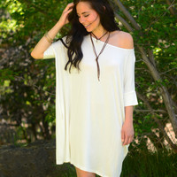Short Sleeve Softie Tunic- Ivory