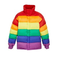 Rainbow Down Puffer Coat