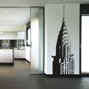 Vinyl Wall Decal Sticker Top of Chrysler Building #OS_AA232