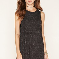 Marled Knit A-Line Mini Dress