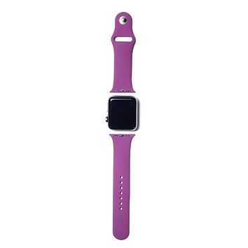 Purple Silicone Apple Watch Band (Dark Purple)