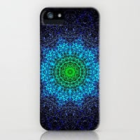 PEACOCK COLOUR MANDALa iPhone Case for iPhone 5 + 4s + 4 + 3gs + 3g  SOCIETY6 by Monika Strigel