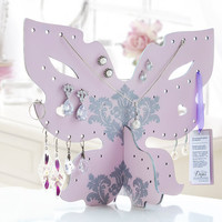Wooden Jewelry organizer / Butterfly Jewelry Storage / jewellery display for necklaces, earrings, bracelets and other jewelry