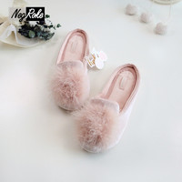 Ice Cotton mirco velvet shoes woman slippers women Slippers fenty slides pantufa rubber shoes home slippers with fur flip flops