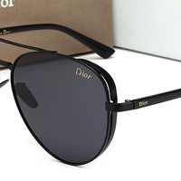 Dior Women Fashion Trending Popular Summer Sun Shades Eyeglasses Glasses Sunglasses Black/Black G-HWYMSH-YJ