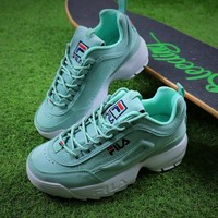 Best Online Sale FILA Disruptor II 2 Mint Green Sport Running Shoes Sneaker FW0165-028