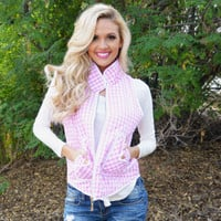 Favorite Gingham Vest