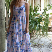 Lilac Fields Floral Maxi