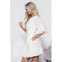 Claire Side Tie Ruffle Dress
