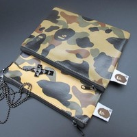 Camouflage Leather Zippers Wallet [10816537095]