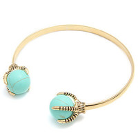 *Accessories Boutique The Talon Cuff in Turquoise and Gold : Karmaloop.com - Global Concrete Culture