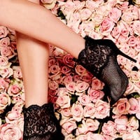 Chinese Laundry Jeopardy Black Mesh and Lace Booties
