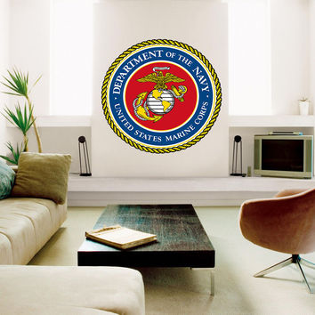 Marine Corps Armed Forces Full Color Decal, Full color sticker,colored gc192