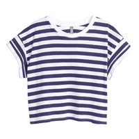 Cropped Jersey Top - from H&M