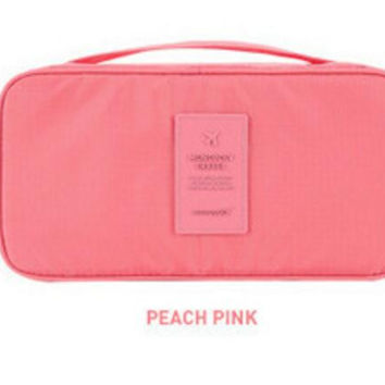 Travel Accessories Pink Lingerie Case