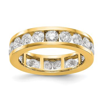 3 Ct. Natural Diamond Womens Eternity Wedding Band Ring in 14k Yellow Gold