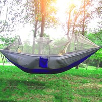 250 x 130cm Single Person Hammock Portable Parachute Fabric Anti-Mosquito bites Hammock  Indoor And Outdoor Camping Hammock