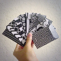 Set of 10 // Black and White Envelopes // Gift Card Envelopes // Gift Card Holders. #007