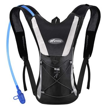 KUYOU Hydration Pack with 2L Hydration Bladder Water Rucksack Backpack Bladder Bag Cycling Bicycle Bike/Hiking Climbing Pouch Black
