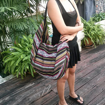 Tribal Hmong Woven Backpack Boho Hippie Indian Ethnic Rucksack Hipster Aztec Gypsy Shoulder Nepali Patterns Bags Hippie Purse Cross Body Bag