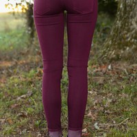Stand Tall Skinny Jeans-Grape