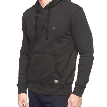 True Religion Slub Fleece Mens Hoodie - Raven