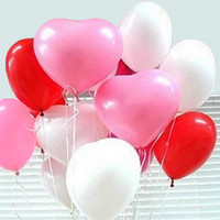 Valentine Balloons: Pink, White & Red (50 count)