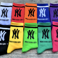 3pcs NYC Casual Sport 100% Cotton Socks