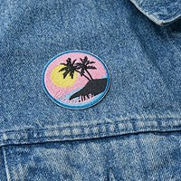 Skinnydip Paradise Palm Iron-On Patch - Urban Outfitters