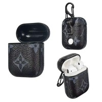 LV tide brand airpods earphone protection case Black