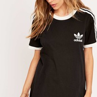 adidas Three Stripes Black Tee - Urban Outfitters