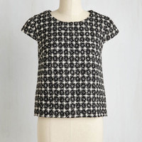 60s Short Length Cap Sleeves Enlightened Expectations Top
