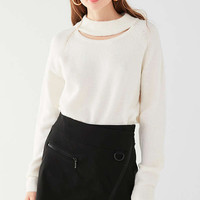 UO Cut-Out Crew Neck Sweater   Urban Outfitters