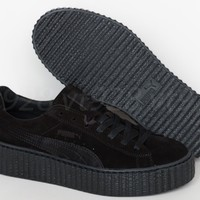 NEW PUMA FENTY RIHANNA CREEPERS SUEDE BLACK LEATHER WOMEN'S SHOES ALL SIZES