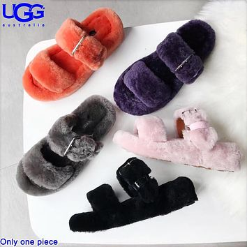 UGG Hot Fashion Sheepskin Slippers Ladies Casual Velvet Sandals Boots Shoes