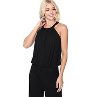 VERONICA HALTER JUMPSUIT (Black)